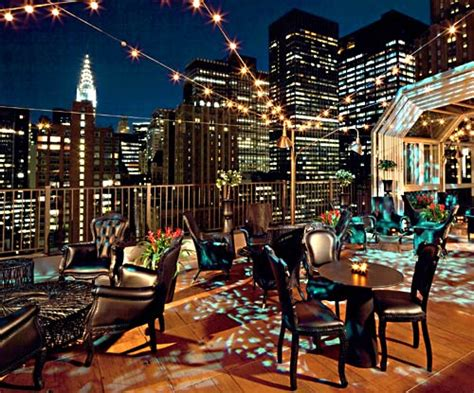 roof top bar manhattan up on the roof where the drinks and manhattan views