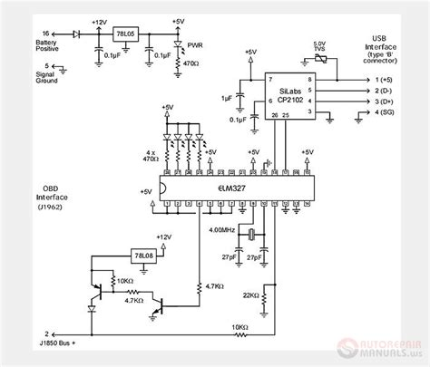usb to obd2 pinout wiring diagrams wiring diagram schemes