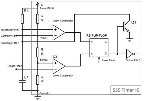 555 delay timer circuit diagram 555 timer monostable circuit diagram