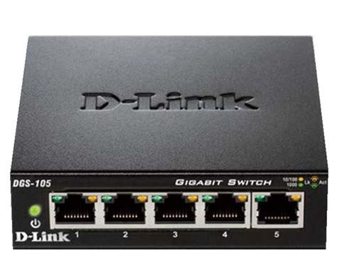Sale D Link Dgs 105 5 Port Gigabit Desktop Switch Metal Casing d link switch 187 dgs 105 5 port layer2 gigabit switch