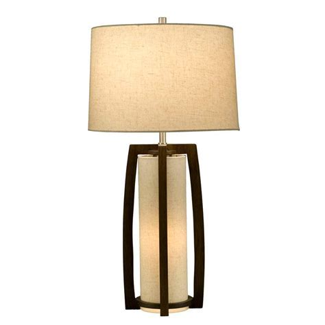 Elegant Pecan Table Lamp NL177   Floor & table
