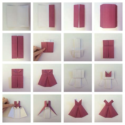 How To Fold Origami Dress - best 25 origami dress ideas on bridal shower