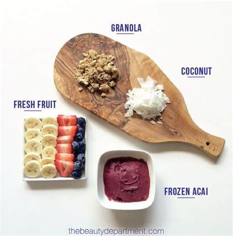 Detox Breakfast Options by Best 25 Frozen Acai Ideas On Acai Cup Recipe