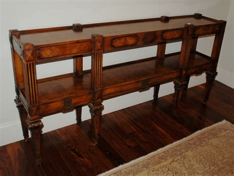 Foyer Table Dimensions burled walnut foyer table dimensions l 73 quot x d