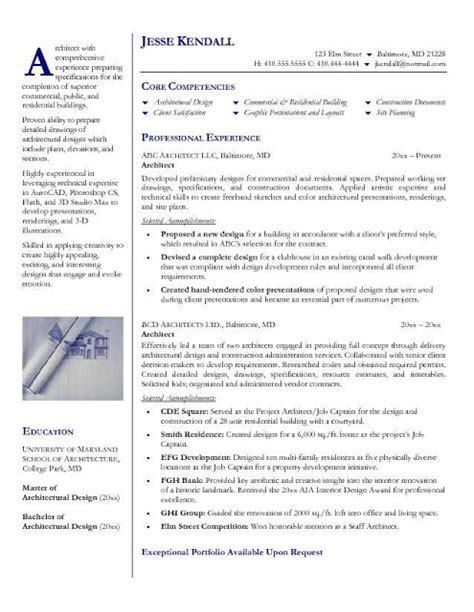 Product Architect Sle Resume by Architecture Products Image Architecture Resume Sle
