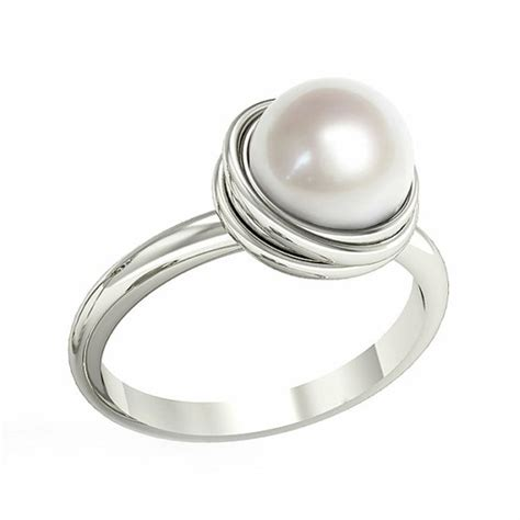 ring designs pearl ring designs with diamonds