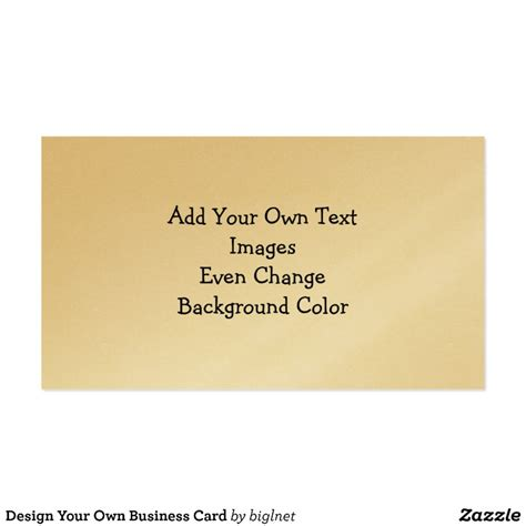 Design My Own 4x8 Card Template by Design Your Own Business Card Zazzle