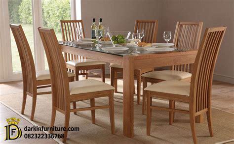 Meja Makan Satu Set satu set meja makan jual meja makan jati dakin furniture