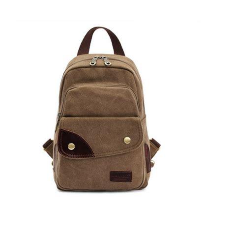 fancyqube canvas chest bag kahki kaukko 6l multi functional canvas chest bag backpack