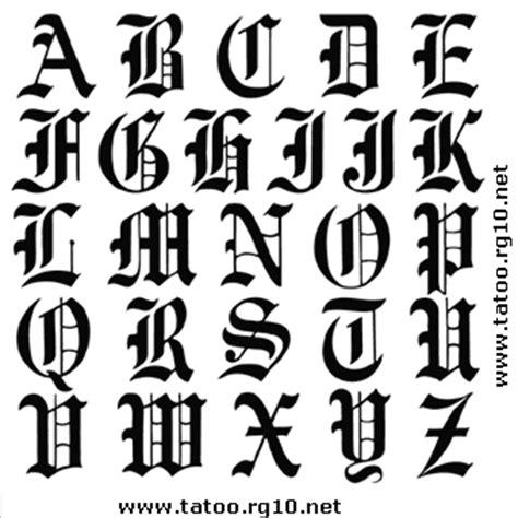 lettere tribali alfabeto desenhos para tatuagem