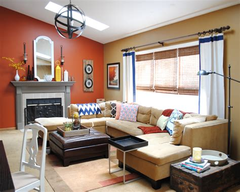 Burnt Orange Living Room Walls by Paint Colors In Home Burger