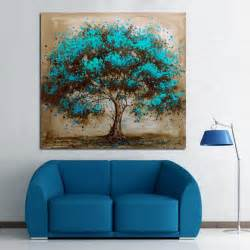 aliexpress buy handpainted modern abstract blue tree
