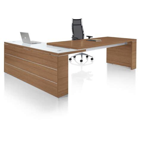 bureau de direction contemporain bureau direction design kara avec retour mobilier de bureau