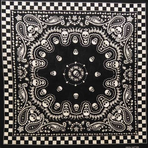 bandana print tattoo black paisley skull bandana bandanas scarves