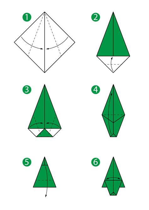 Origami Tree Step By Step - origami tree