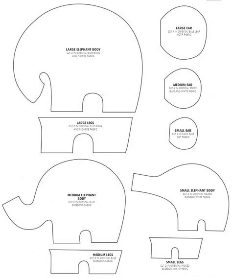 Elephantastic How To Sew An Elephant Diy Tutorial Ideas Template To Sew