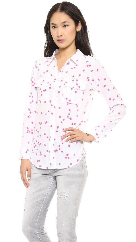 Zean Blouse Tunik 100 Cantik lyst equipment starry slim signature blouse in pink