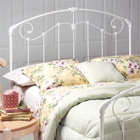 White Iron Headboard by Hillsdale Maddie Metal White Finish Headboard Ebay