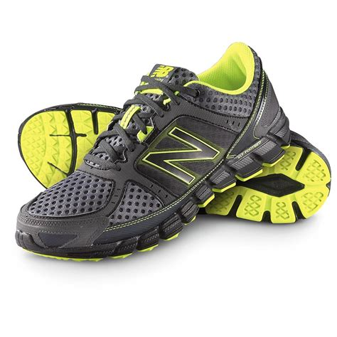 new balance mens sneakers s new balance 174 750 running shoes gray yellow