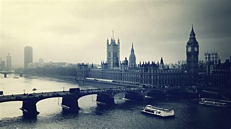 full hd wallpaper london black  white aerial view big