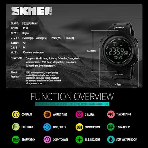 Jam Tangan Skmei Compass 1232 Jam Tangan Sport Original Gree skmei jam tangan digital pria dg1231cm black jakartanotebook