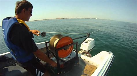 boat launch winch paragliding winch tow on the boat youtube