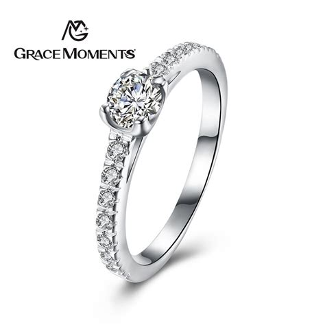 grace moments authentic 925 sterling silver sparkling crystal elegant finger rings for women