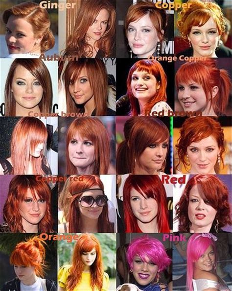 ginger hair color chart red hair dye color chart so i d prob go with ginger