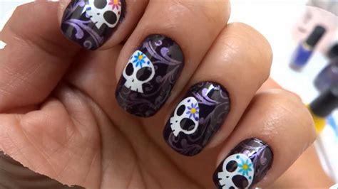 imagenes de uñas acrilicas de halloween dise 241 o de u 241 as para el d 237 a de muertos youtube
