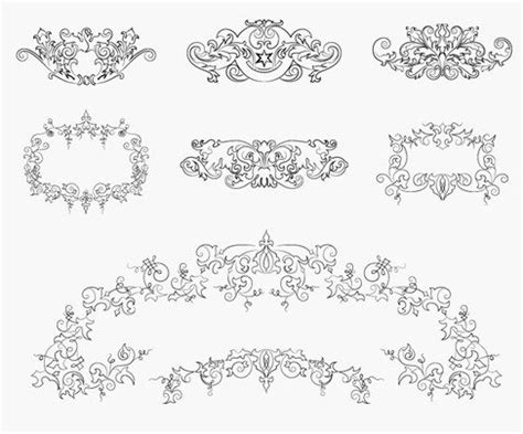 vintage design elements vector set 23 vintage floral design elements vector set free vectors