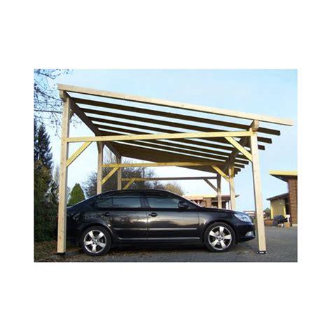 Abri En Bois 2677 abri voiture monopente fabriqu 201 en bois en sapin