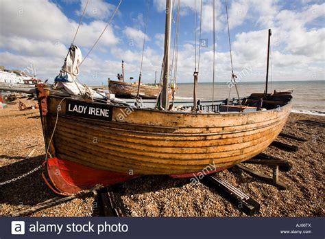 fishing boat uk uk kent deal the strand traditional wooden fishing boat