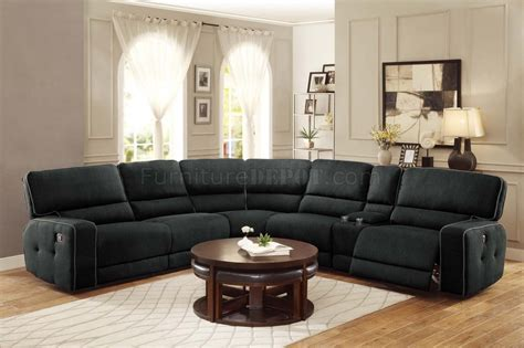 motion sectional sofa keamey motion sectional sofa 8336 6lrrr by homelegance