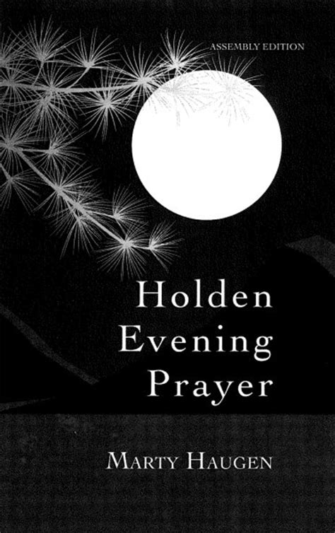 holden prayer service holden evening prayer 30th anniversary assembly edition