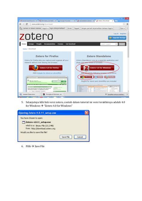 zotero tutorial video instalasi zotero