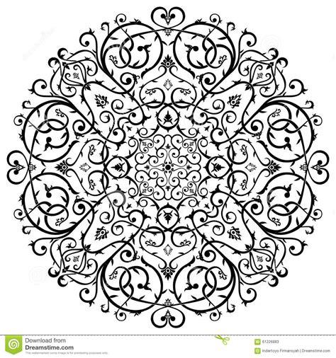 Pola Motif Gurita Pattern Patterns arabic batik circle floral pattern ornament stock