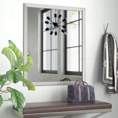 bathroom vanity metal mirrors youll love   wayfair
