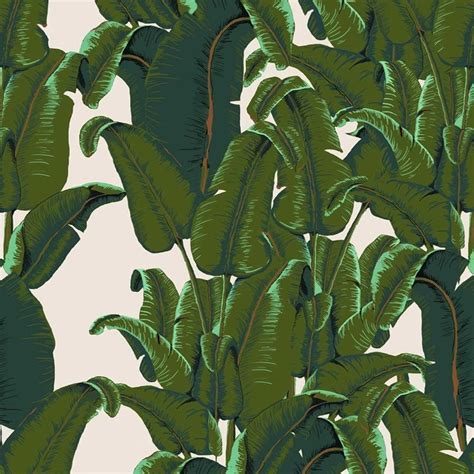 bananas leaf wallpaper banana leaf wallpaper tiles tropical wallpaper by
