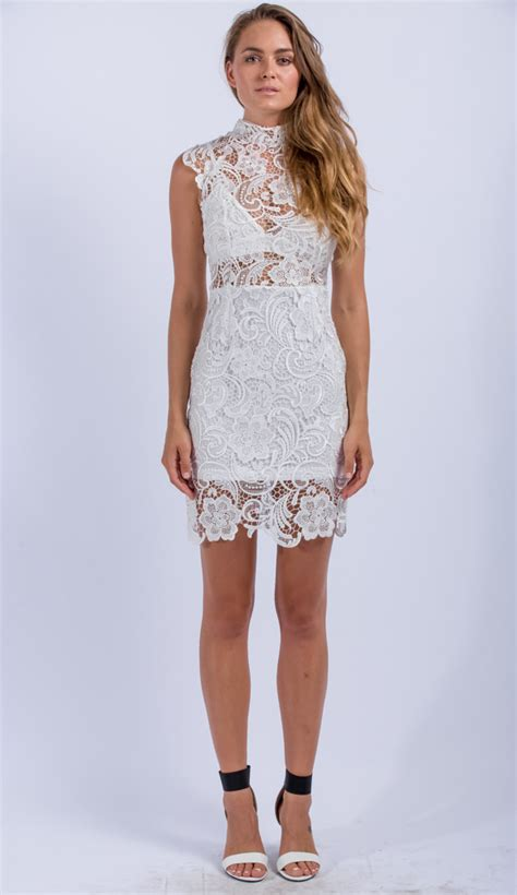 D Barly Dress By Gagil barely bodycon dress in white
