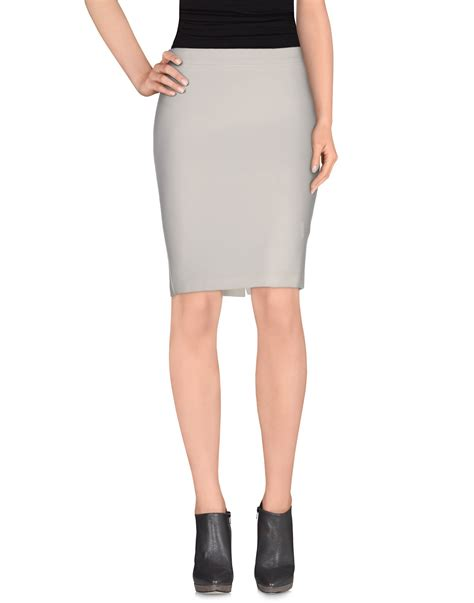 daniele alessandrini white knee length skirt lyst