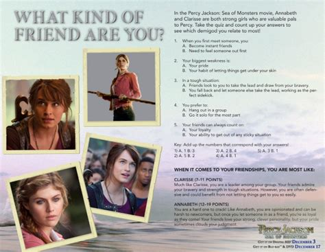 Printable Quiz What Kind Of Friend Are You | percy jackson what kind of friend are you printable quiz