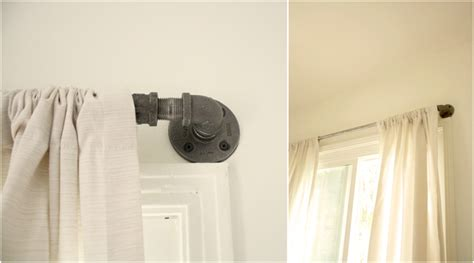 curtain rod close to wall diy industrial curtain rod hello lidy