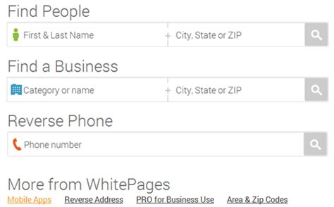 Whitepages Search For Address White Pages Lookup Free