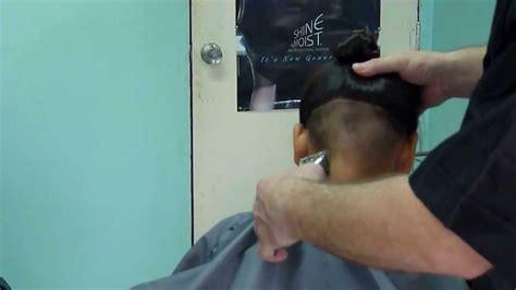 manual clipper haircut in progress manual hair clippers cut