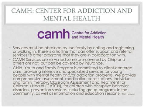 Camh Detox Program by Meeting The Need Of Families Hani Adan