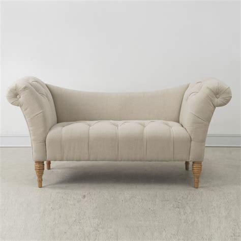 victorian tufted sofa shev victorian tufted beige linen settee sofa victorian