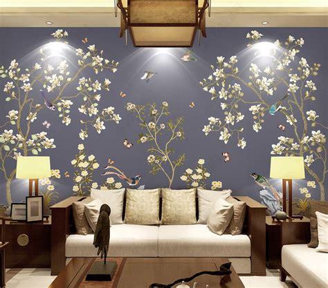Tapisserie Florale by Tapisserie Florale Asiatique Les Magnolias Les Oiseaux