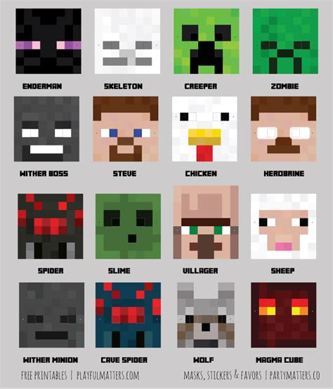 printable minecraft zombie mask having a minecraft party download the printables jpgs