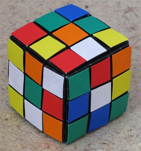 Origami 3d Cube - origami rubik s cube version 2 artist daniel brown this