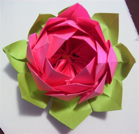 Simple Origami Lotus Flower - omiyage blogs diy origami lotus